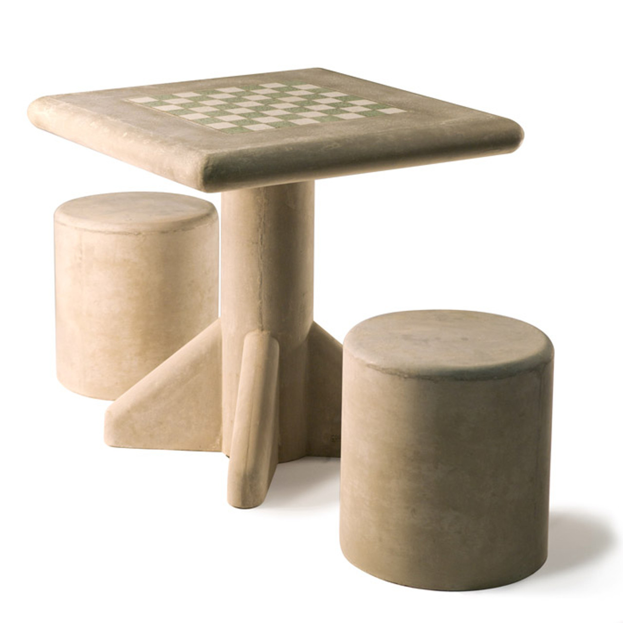 Concrete Freestanding Chess Table and Stool Set - Kenneth Lynch and Sons
