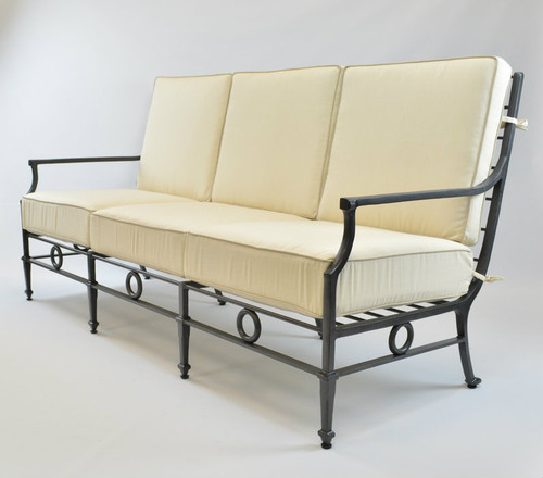 Neoclassical Grand Sofa Three Seats