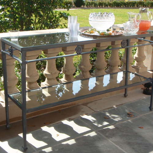Star Design Console Table with Glass top