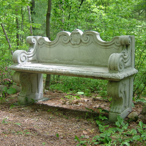 Garden Bench with Back