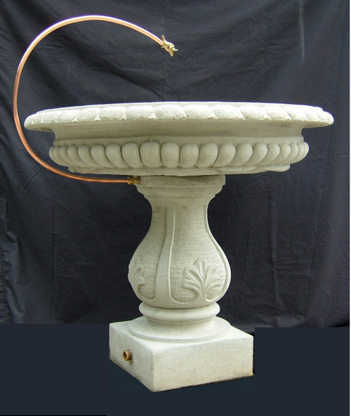 Birdbath with Copper drip