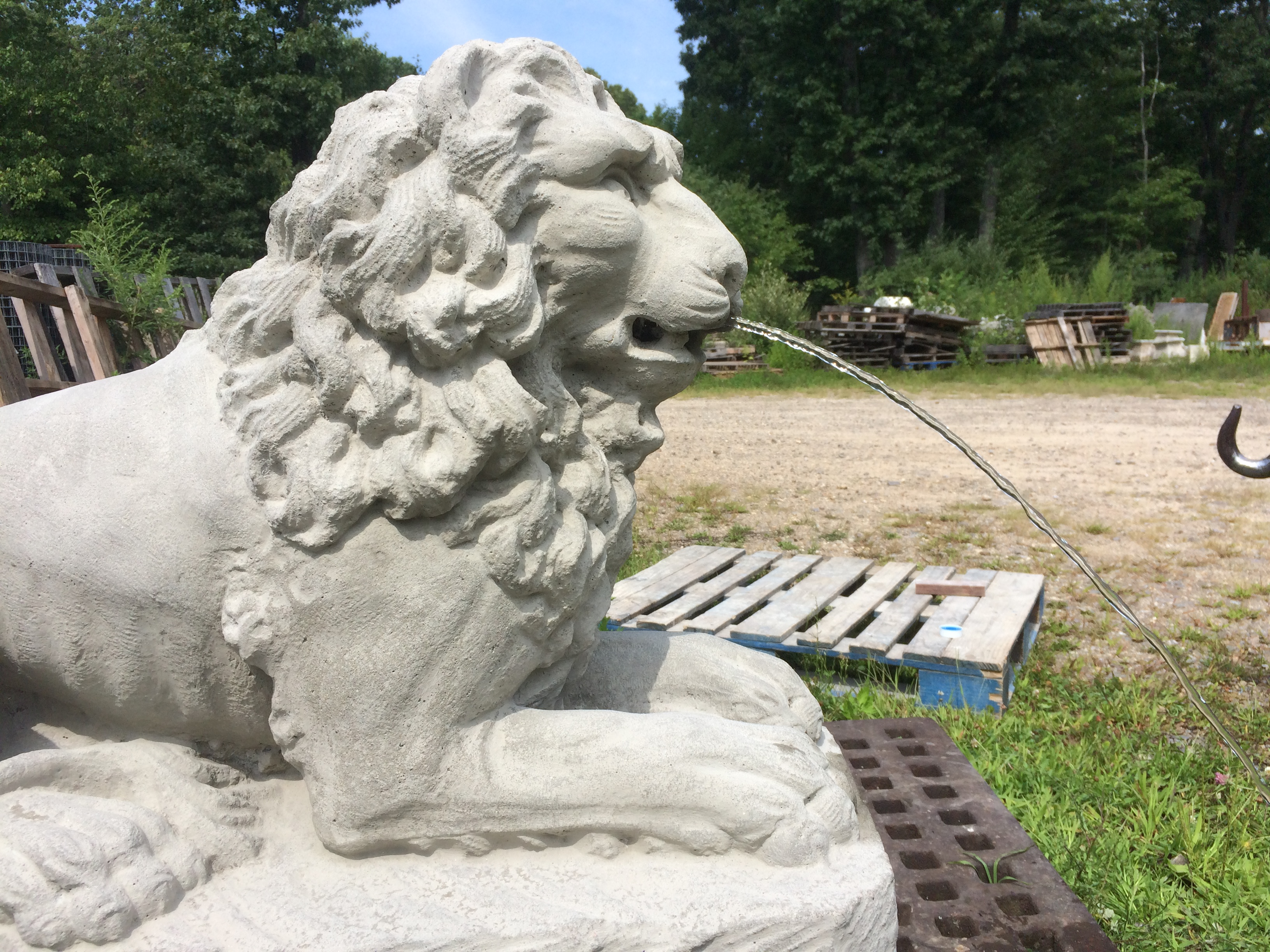 Lion fountain feature
