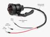 Black CNC Machined Ally Vintage Retro Custom LED Stop Tail Light Red Lens