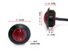 """2"""" 50mm Very Bright Cafe Racer Flush Mount LED Stop / Tail Light Waterproof"""