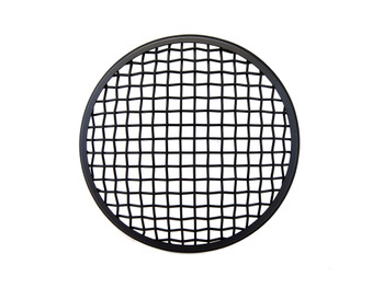 "7"" INCH Matt Black Mesh Grill Metal Headlight Cover Scrambler Project Motorbikes"