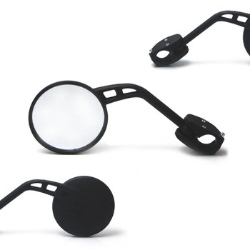 "Single Universal Round Motorcycle Motorbike Mirror For 22mm 7/8"" Handlebars"