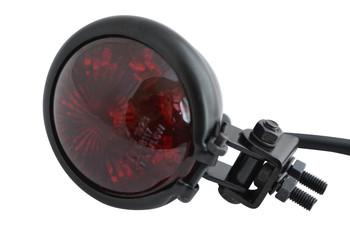 Gloss Black Steel E-marked LED Custom Stop Tail light Motorcycle Motorbike Trike