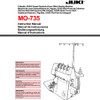 Juki MO-735 Serger Included Instruction Manual