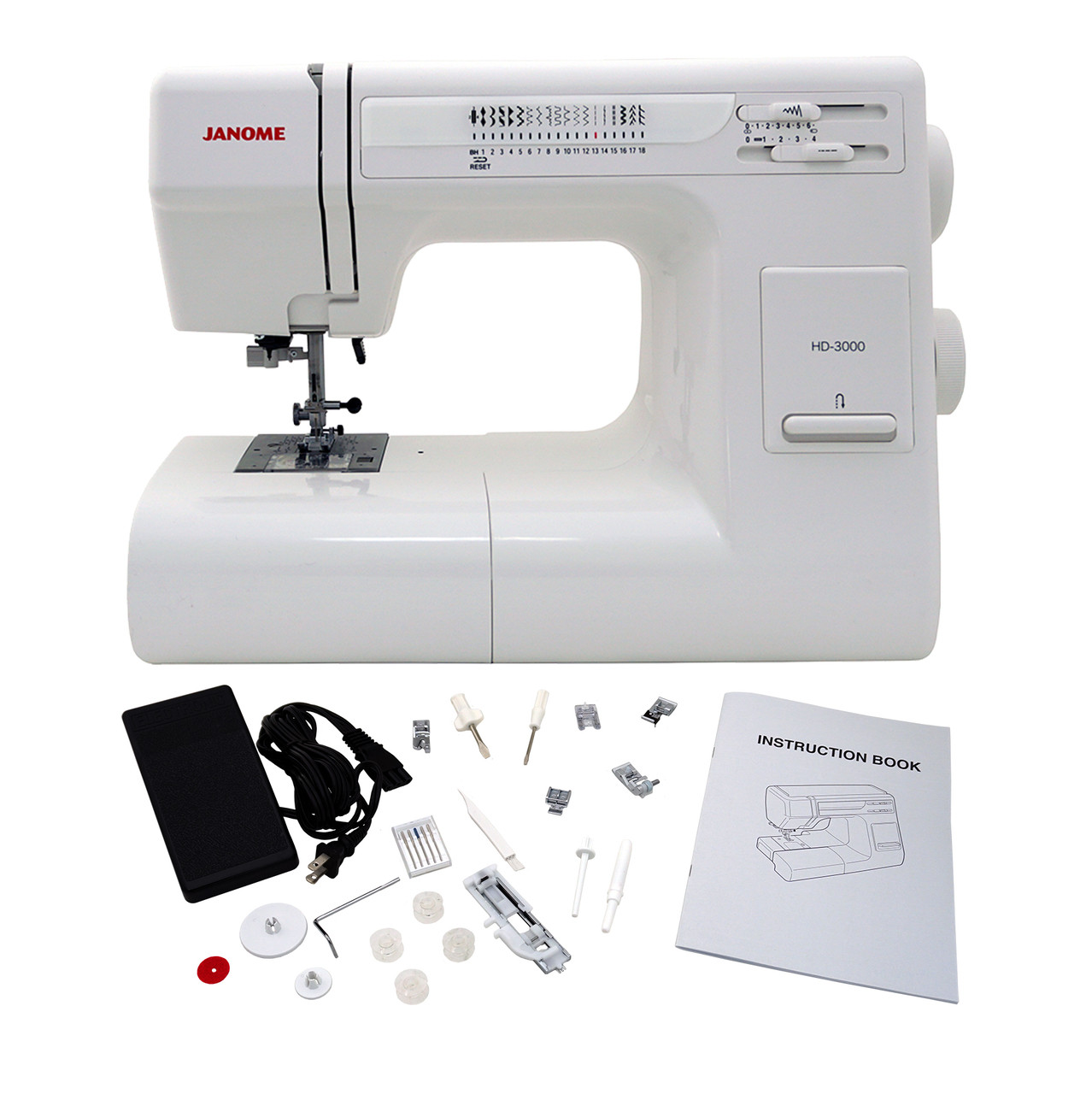 Janome hd3000 sewing machine with exclusive bonus bundle for Janome hd3000