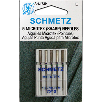 Schmetz Microtex (Sharp) Needles - Size 70/10