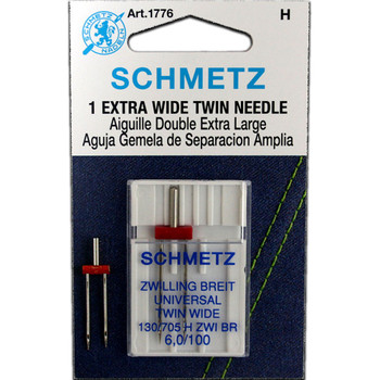 Schmetz Twin Needle / Larger Size - Size 6.0/100