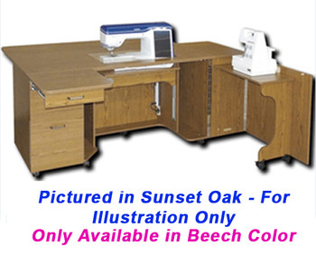 """Horn of America  Elite 6278EL Electric Lift Cabinet with Giant 27"""" x 15.5"""" Machine Opening - Only available in Beech laminate"""