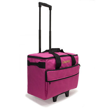"Luova 19"" Rolling Sewing Machine Trolley in Pink"
