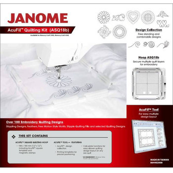 Janome Acufil Quilting Hoop Set AQS18B For MC500E/MC400E