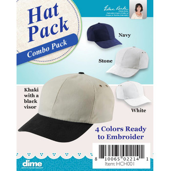 Variety Pack of Hats for Embroidery