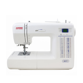 Janome 8077 Computerized Sewing Machine (Refurbished) - Front view