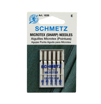 Schmetz 1839 Microtex Needles 5 Pack Assorted Sizes