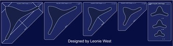 """Sew Steady Flying Bell Curve Template Set of 5 (1""""–6"""")"""