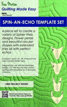 Sew Steady Westalee Spin an Echo Template 4pc Set