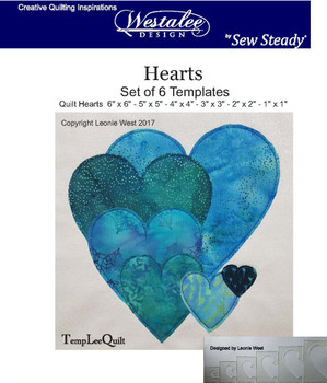 Sew Steady-Westalee Heart Templates 6PC Set