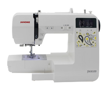 Janome JW8100 front view wittout freearm extension