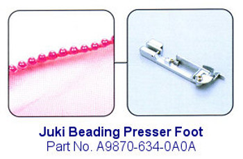 Juki Beading Serger Foot - Fits Juki MO-600, MO-700, MO-104D and MO-114D Sergers