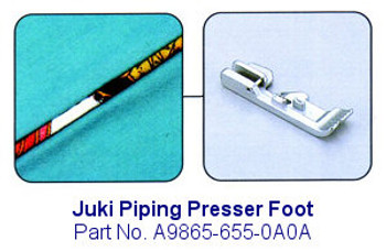 Juki Piping Serger Foot - Fits Juki MO-600, MO-700, MO-104D and MO-114D Sergers