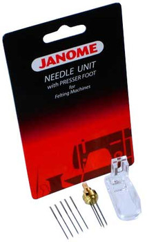 Janome Felting Machine Needle Clamp with Needles and Foot