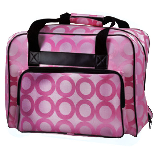 Janome Sewing Machine Tote Bag in Pink with Pink Pattern $29.99
