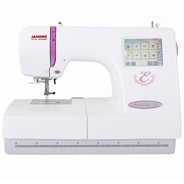 Janome Memory Craft 350E Embroidery Machine (Refurbished) - Front
