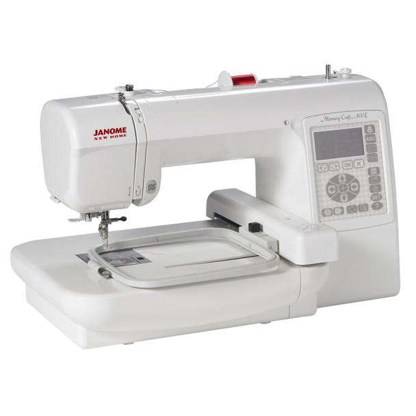 Janome Memory Craft 200E Embroidery Machine (Refurbished) - Quarter view left
