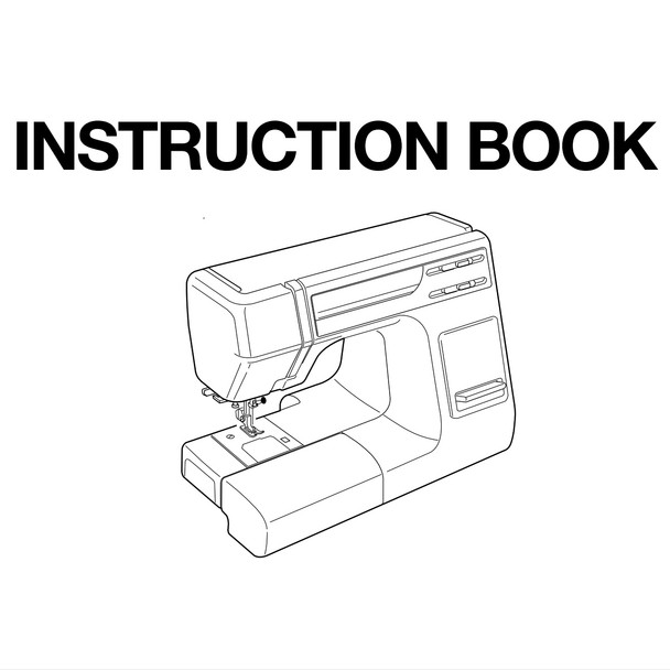 Janome HD3000 Sewing Machine Included Instruction Manual