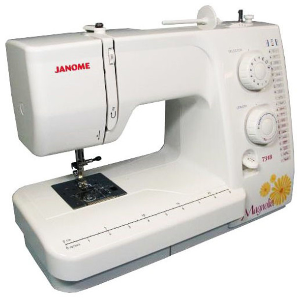 Janome Magnolia 7318 Refurbished Sewing Machine - Left quarter view