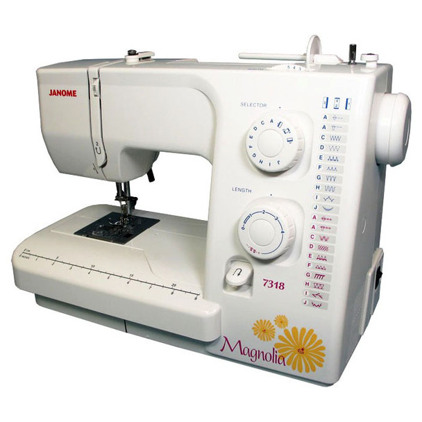 Janome Magnolia 7318 Refurbished Sewing Machine - Right quarter view