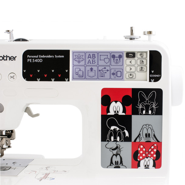 Brother PE540D Disney Embroidery Machine neck