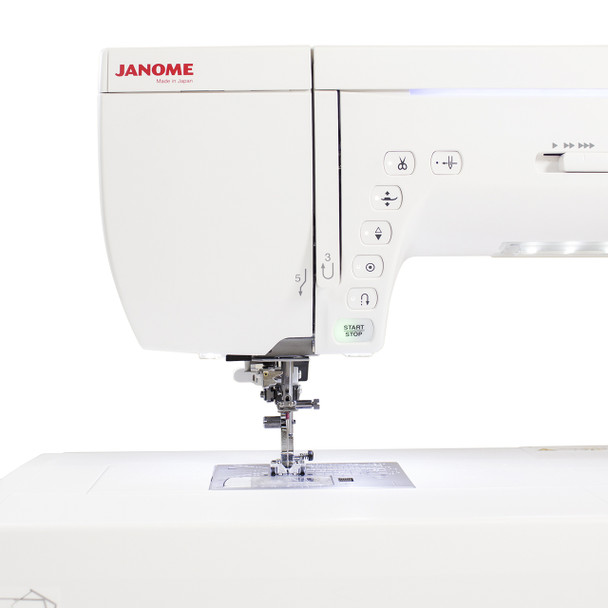 Janome Memory Craft 14000 Sewing and Embroidery Machine - Thread Guide and Controls
