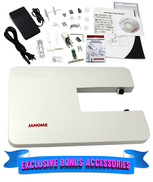 Janome 4120QDC-B Computerized Quilting and Sewing Machine - Bonus Bundle Items