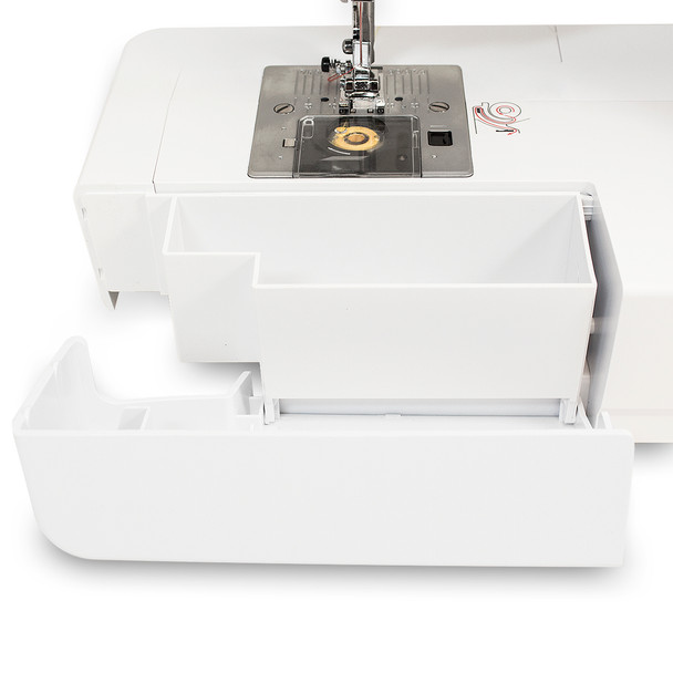 EverSewn Sparrow 25 – 197 Stitch Computerized Sewing Machine storage compartment