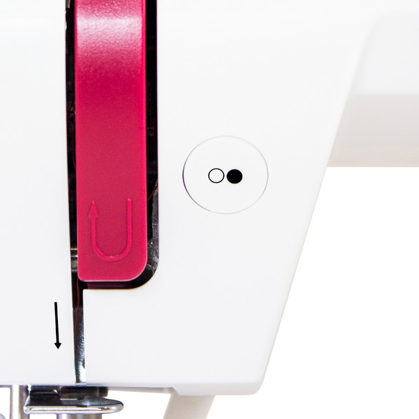 EverSewn Sparrow 20 – 80 Stitch Computerized Sewing Machine threading area