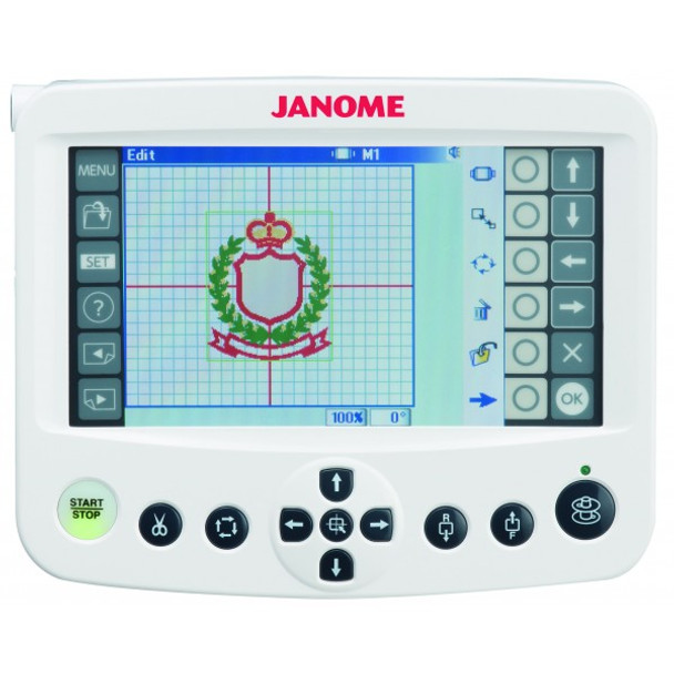 Janome MB-4S Four Needle Embroidery Machine - Color LCD Touch Screen, Attaches to Machine or Freestanding, USB Slot