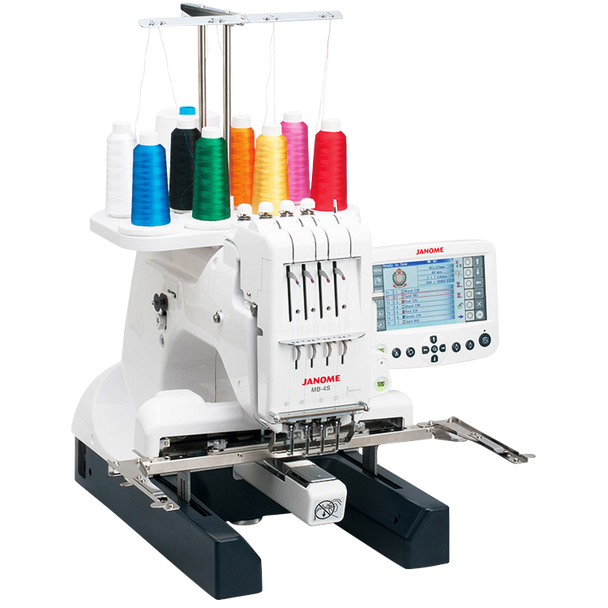 Janome MB-4S Four Needle Embroidery Machine - Needle Area has 4 LED White Lights for Optimal Lighting