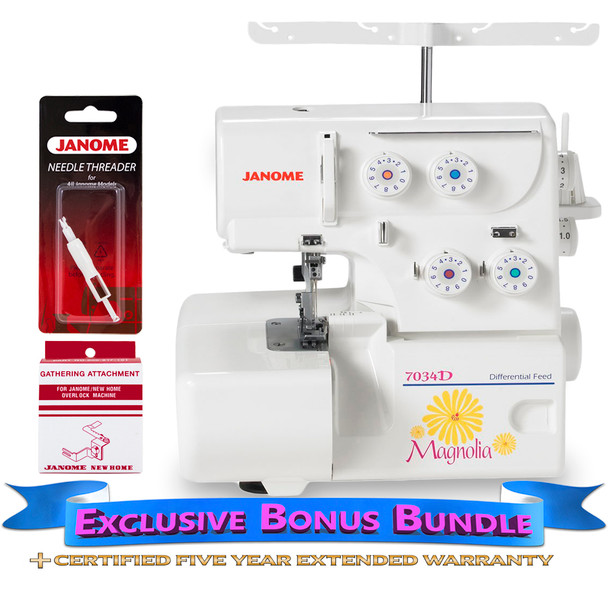 Janome 7034D Serger with Bonus Bundle
