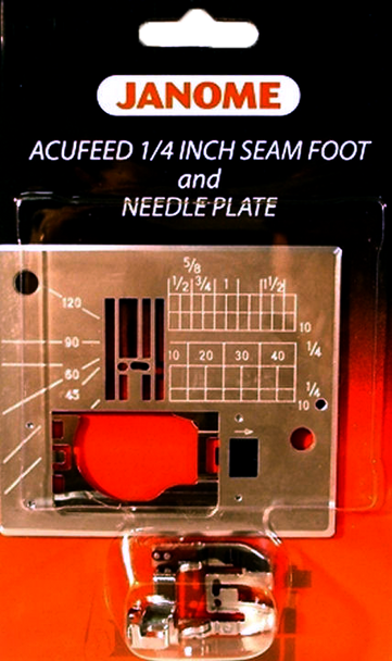 Janome Memory Craft 6600 1/4 inch Seam Foot and Straigh Stitch  Needle Plate