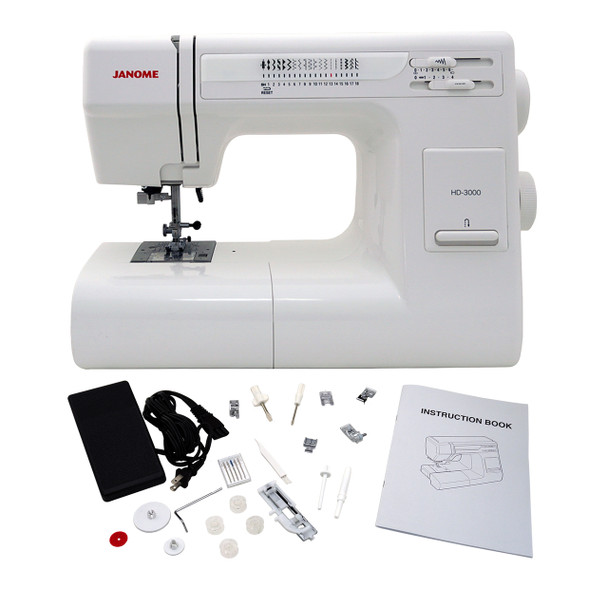 Janome HD3000 - Sewing Machine with Exclusive Bonus Bundle and Tote