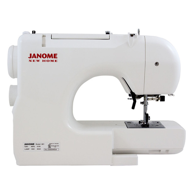 Janome Jem Gold Plus 661G Trim & Stitch - Rear View