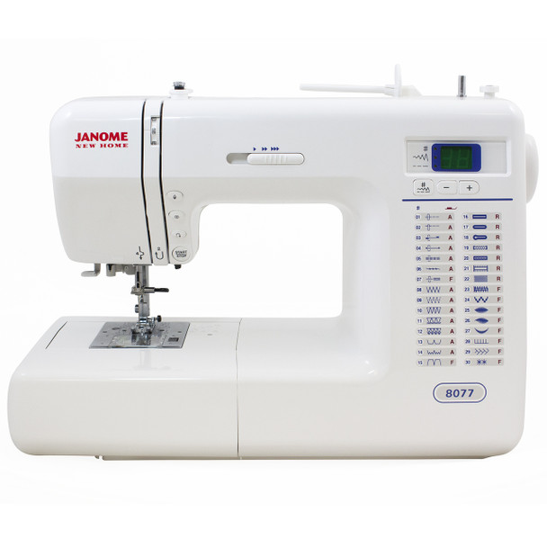 Janome 8077 Computerized Sewing Machine - Front View
