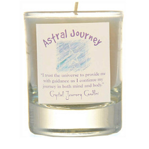 Astral Journey Glass Filled Votive Candle