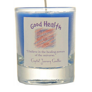 Good Health Glass Filled Votive Candle