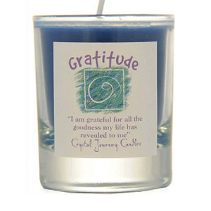 Gratitude Glass Filled Votive Candle