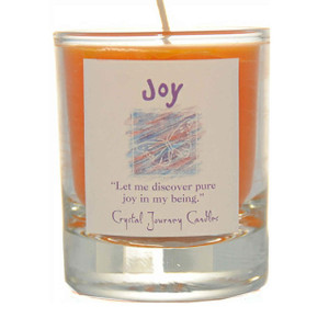 Joy Glass Filled Votive Candle